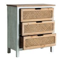 Danielle Rustic Chest Of Drawers With Weaved Fronts